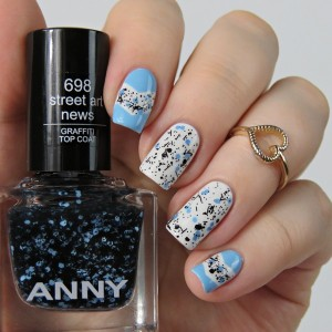 Anny Fashion Blogger in the city 698 street art news top coat
