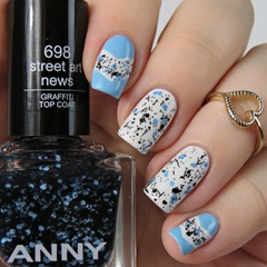 ANNY Nail Polish Swatches 698 street art news graffiti top coat