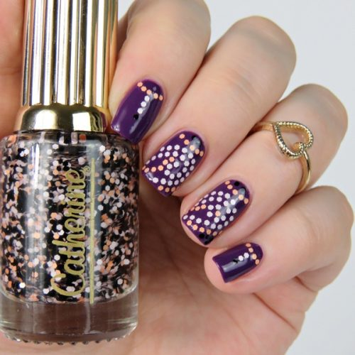 Glitter Placement Nail Art mit Catherine Nagellacken