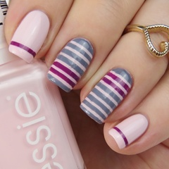 Striping Tape Mani: Simple Nail Art with Striping Tape