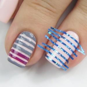 Striping Tape Manicure: Nageldesign mit Streifen