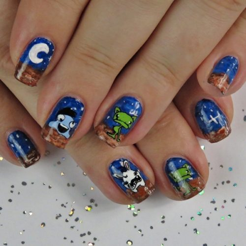 Easy Alien Nail Design for Halloween