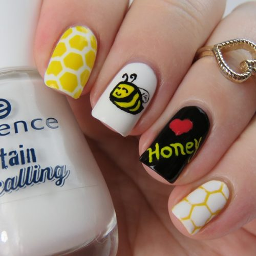 Honey Bee Nails with Nail Vinyls