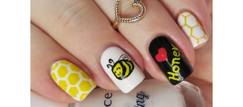 Honey-Bee-Nail-Art