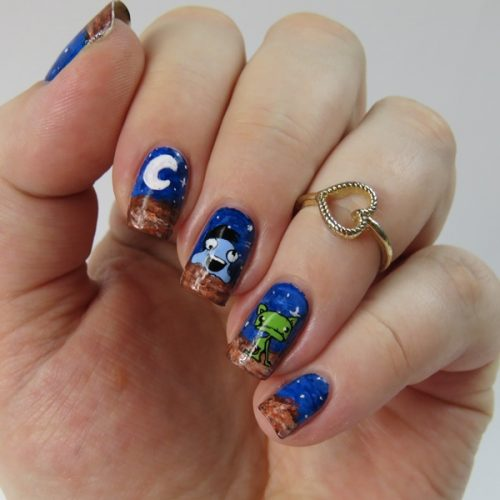 Alien Nail Art for the Moyou London Video Contest