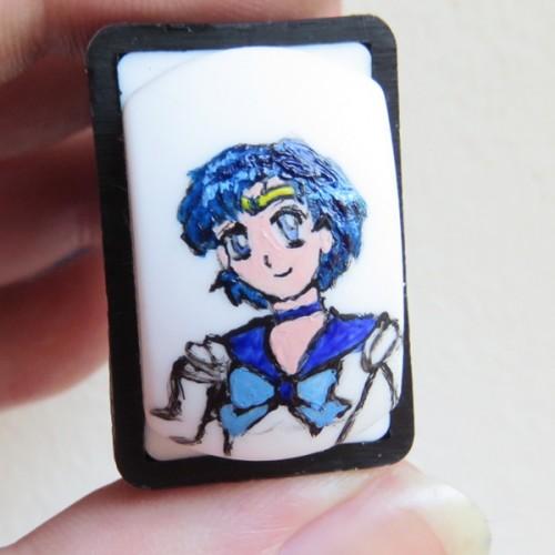 Sailor Merkur mit Acrylfarbe auf einem Nail Art Stamper