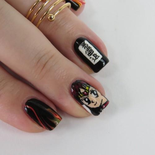 Anime Nails: Sailor Moon Blogparade Sailor Mars Nail Art