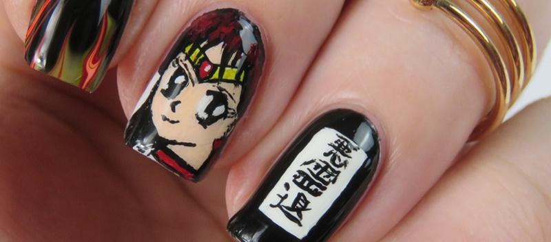 Sailor Moon Nails: Sailor Mars