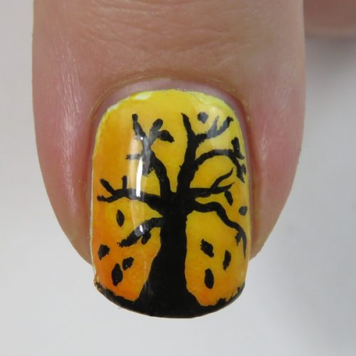 Fall Nails: Easy Autumn Nail Art with acrylic paint