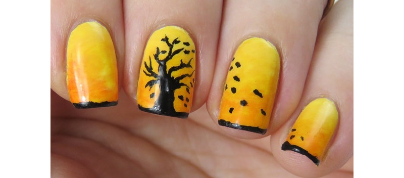 Herbst Nageldesign Herbstnagel In Herbstfarben