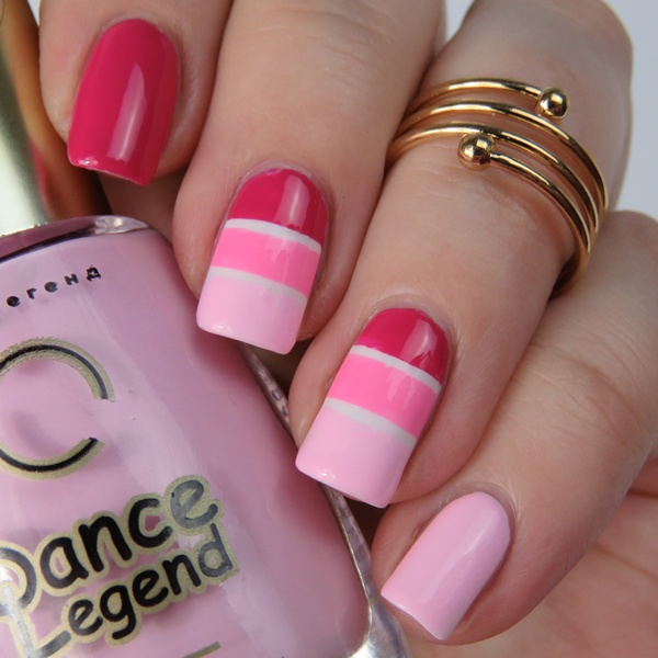 Pink Striping Tape Mani Einfaches Nageldesign Fur Anfanger