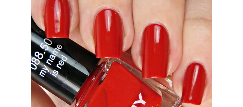 ANNY my name is red puzzle nails