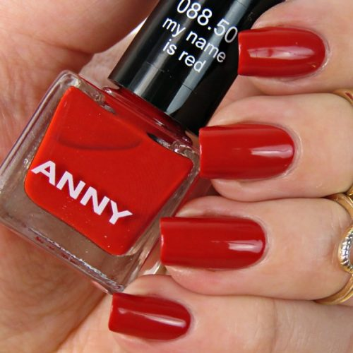 ANNY my name is red nail polish
