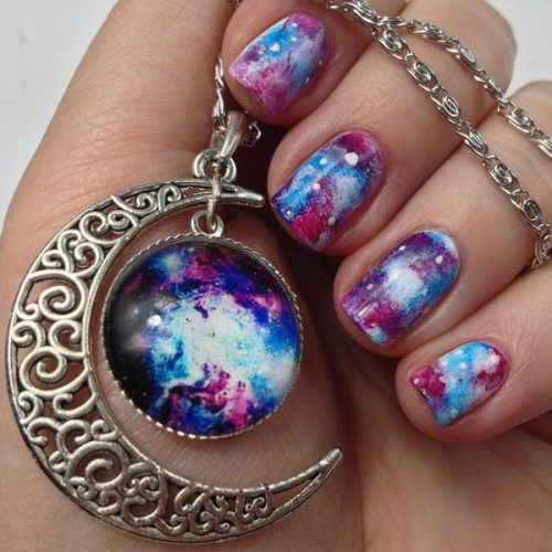 Galaxy Nails Tutorial: Nail Art Tutorial for Galaxy Nail Design
