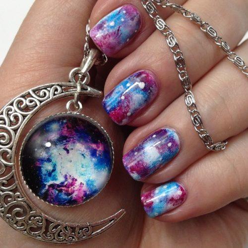 Galaxy Nails Tutorial: Nail Art Tutorial for Galaxy Nail Design