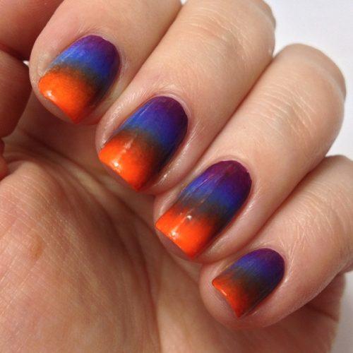 Halloween Nails: Halloween Nageldesign mit Acrylfarben