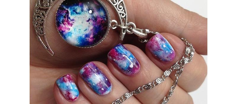Galaxy Nails Anleitung Einfaches Nageldesign Selber Machen