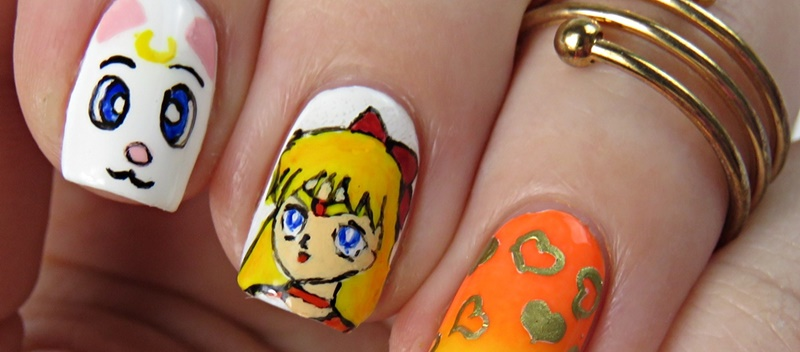 Sailor Venus Nageldesign