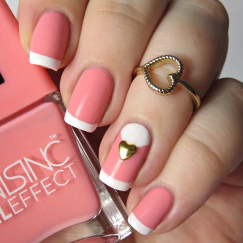 Nails Inc Gel Effect Old Park Lane: Einfaches Nageldesign mit French Linie