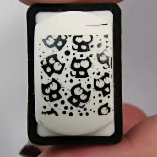 bornprettystore stamping plate: Nail Stamping with cats