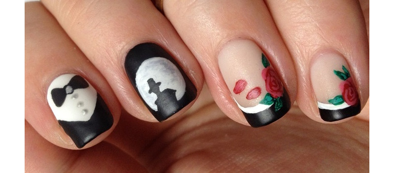 Tuxedo Mask Sailor Moon Nageldesign