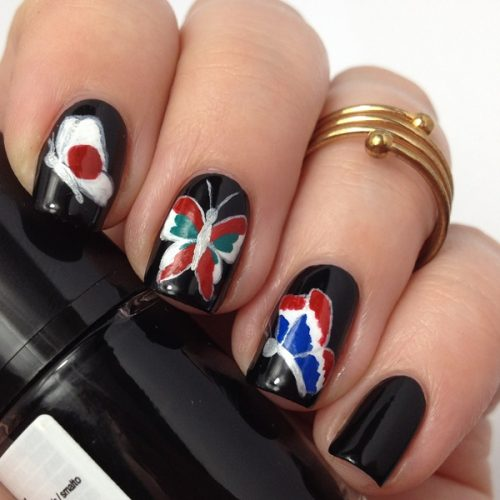 #prayforparis Nails Nail Art