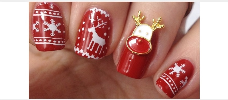 Winter Nageldesign: Sweater Nails