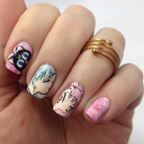Sailor Moon Blogparade: Helios and Chibiusa Nail Art Nails