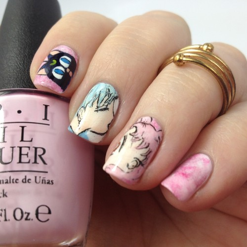 Sailor Moon Nageldesign: Luna P, Helios und Chibiusa Nägel Nail Art