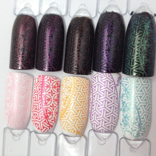 trend it up Magical Illusion Nagellacke Stamping Test