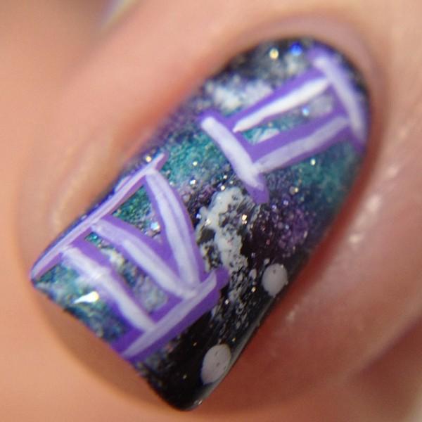 Sailor Pluto Nails