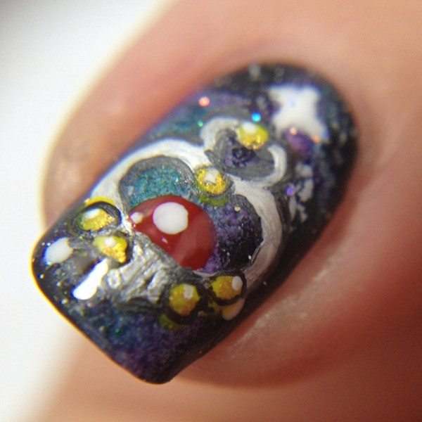 Sailor Pluto Garnet Orb Nail Art