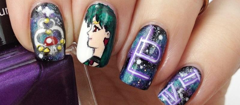 Sailor Pluto Nail Art