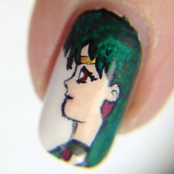 Sailor Pluto Nail Art