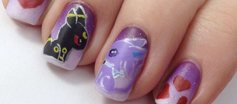 Umbreon & Espeon Nail Design