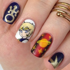 Sailor Uranus Nails: Sailor Moon Nail Art mit Haruka Tenoh: Mein Sailor Uranus Nageldesign auf nisinails.de