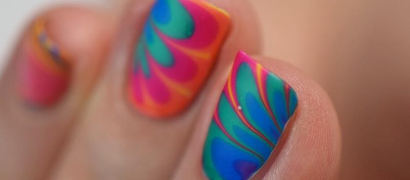 Water Marble Nail Design für Anfänger