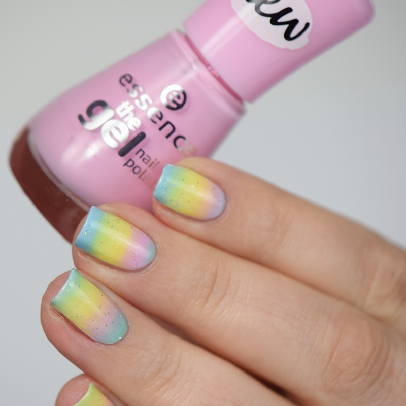Essence Nail Polish Gradient Nails Easter Nail Art Nisinails