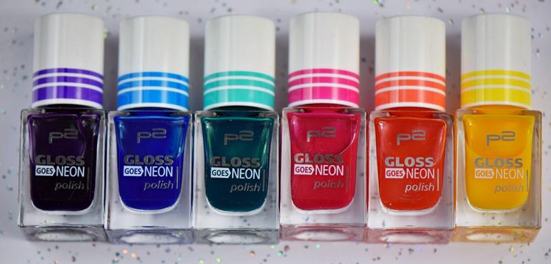 p2 Gloss goes Neon Nagellacke für Water Marble auf nisinails.de