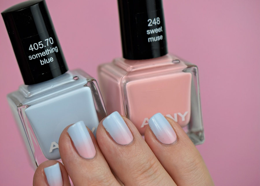 Rose Quartz Serenity Gradient Nail Art