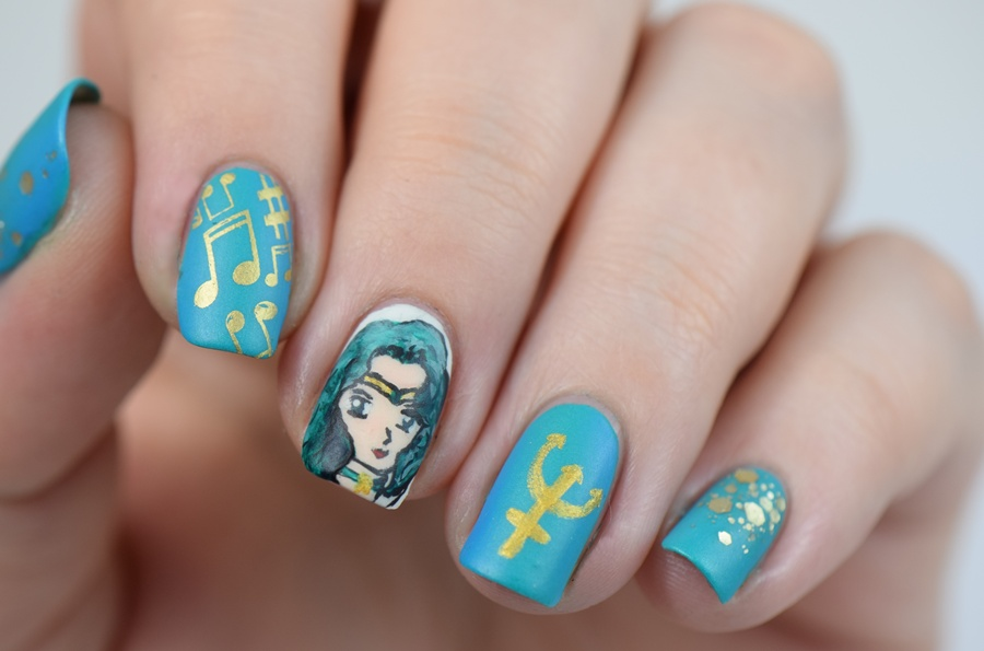 Nageldesign selber machen: Sailor Neptun Nail Art