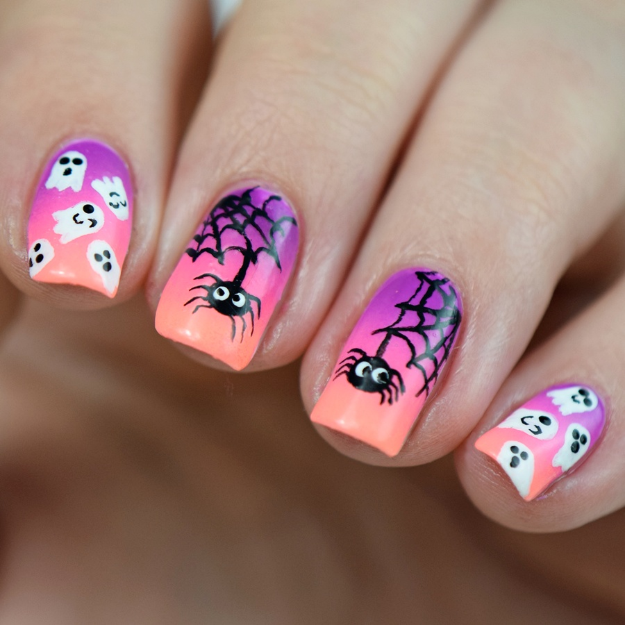halloween nageldesign im mai nail art challenge nisinails. Black Bedroom Furniture Sets. Home Design Ideas