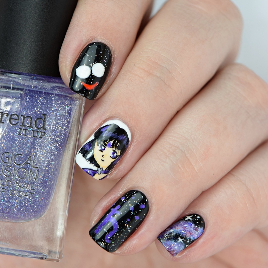 Sailor Moon Sailor Saturn Nails