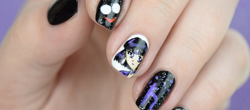Sailor Saturn Nageldesign Nail Art