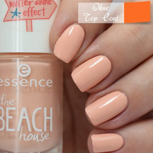 essence the beach house nail polish 02 a summer kinda girl Swatch no Top Coat