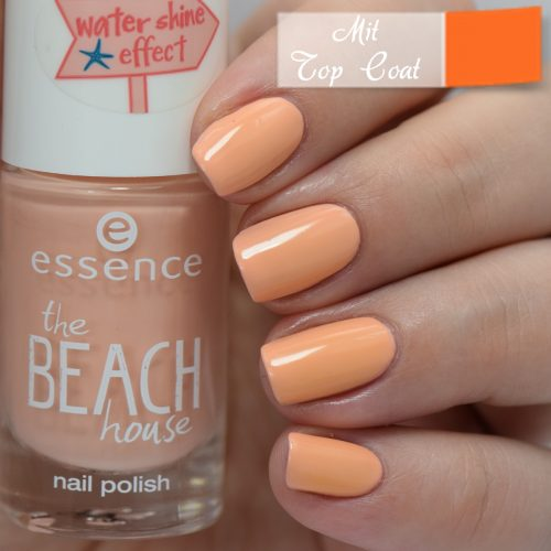 essence the beach house nail polish 02 a summer kinda girl Swatch with Top Coat