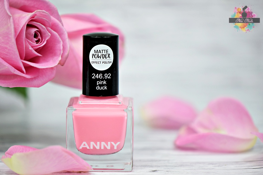 ANNY pink duck matte powder effect nail polish
