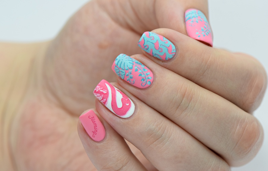 Sommer Nageldesign Flamingos 2016