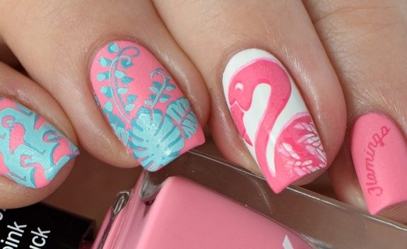 Sommernägel Nageldesign Flamingos 2016