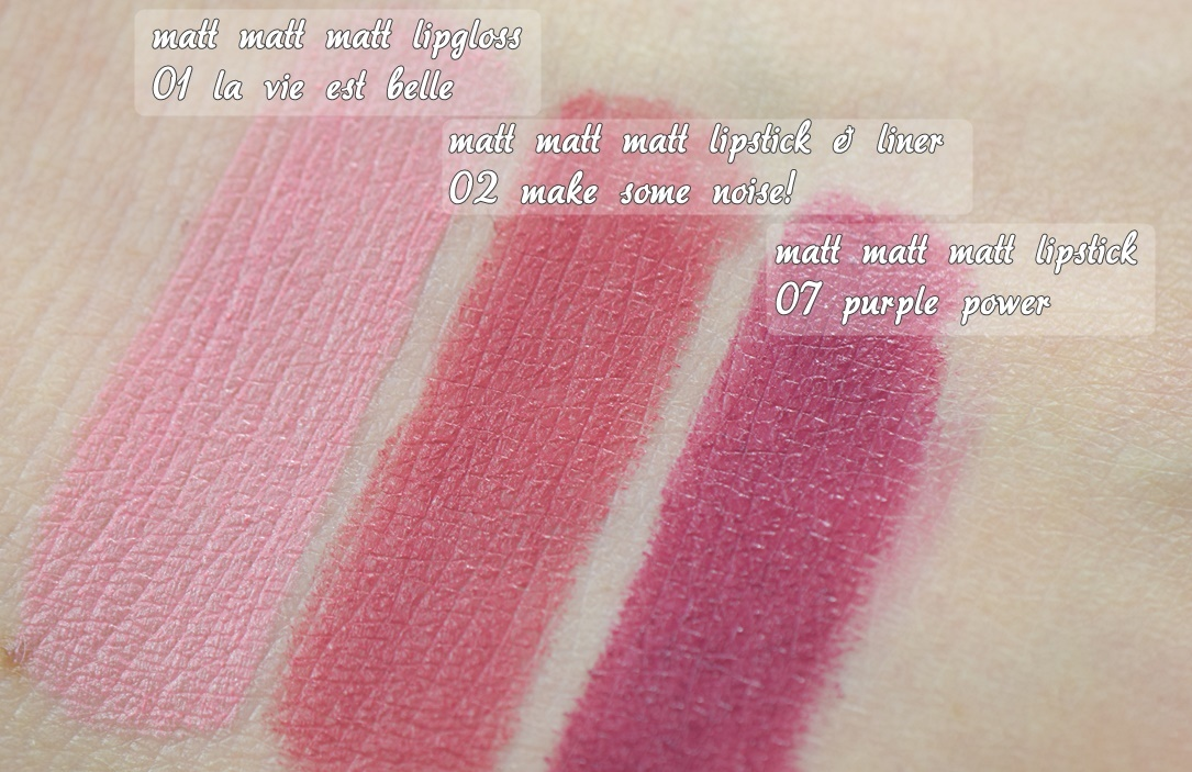essence matt matt matt lipstick Swatches 1